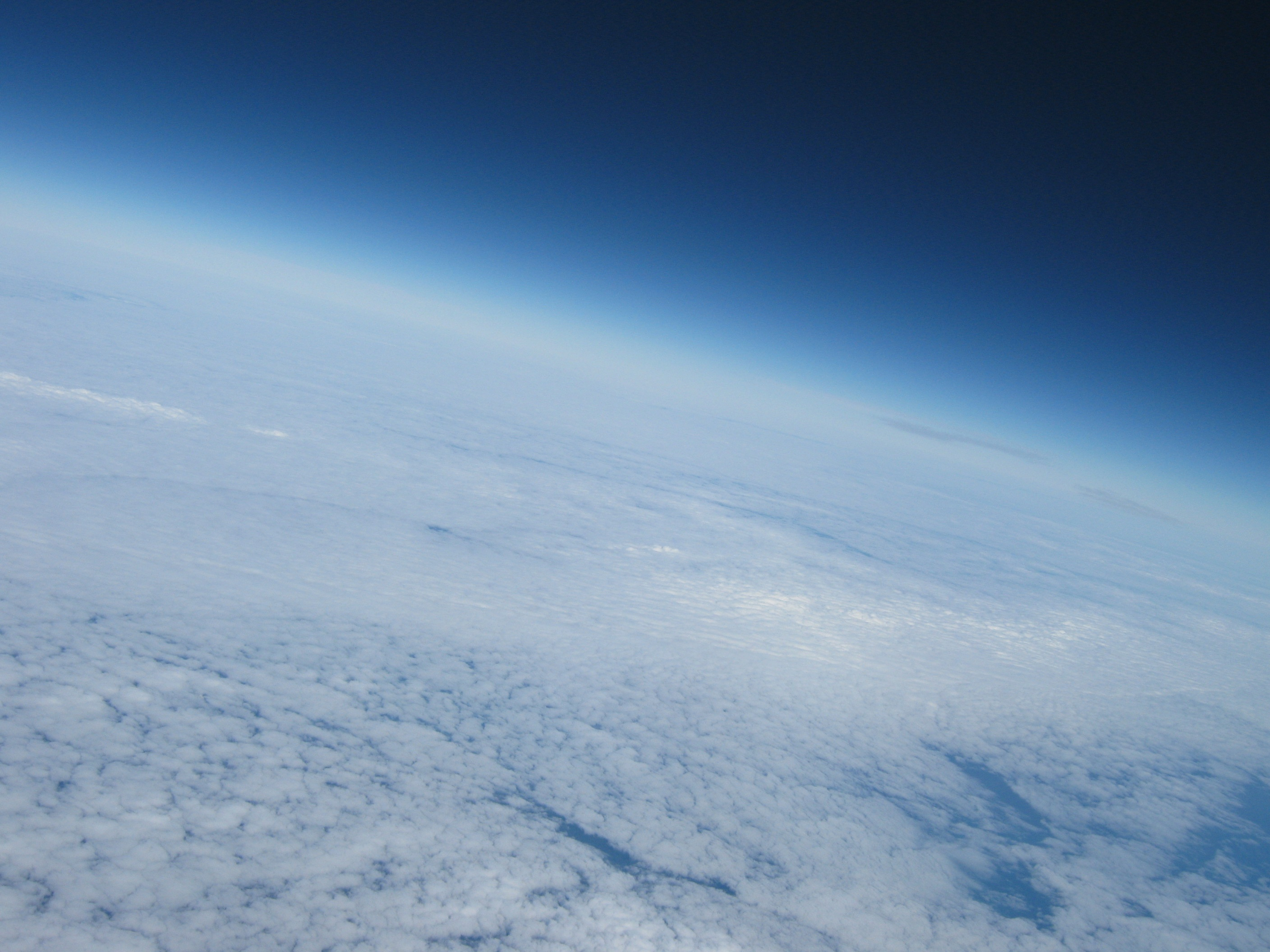 Curvature of the Earth from near the flight peak